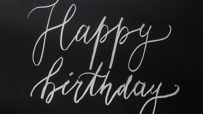 Ucapan Selamat Ulang Tahun Bahasa Inggris - Tulisan dari Kapur