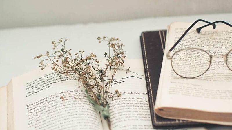 Kata Bijak Bahasa Inggris Mario Teguh - Bunga Kering, Kacamata, Buku