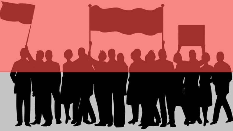 Arti & Pengertian Demokrasi - Ilustrasi Rakyat Demo