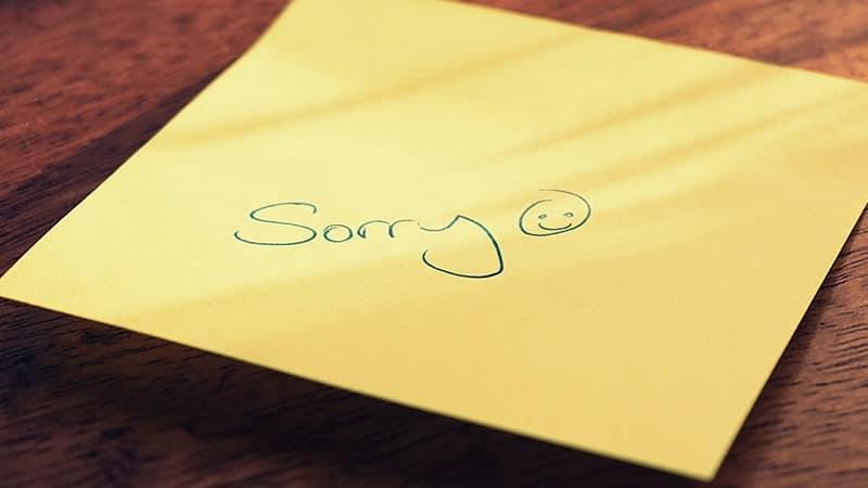 Kata-Kata Minta Maaf Kepada Teman - Post It Sorry