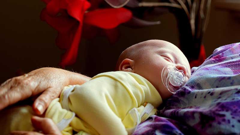 Ucapan Syukur Kelahiran Anak Islam - Bayi Tidur
