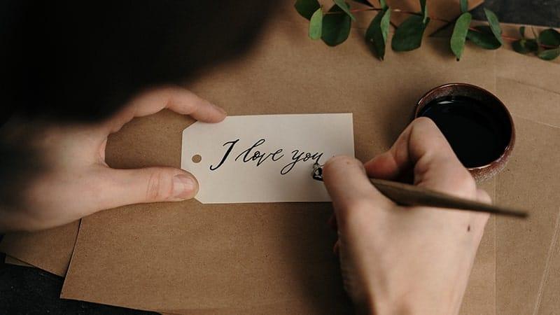 Kata-Kata Sayang buat Pacar - Handletter I Love You