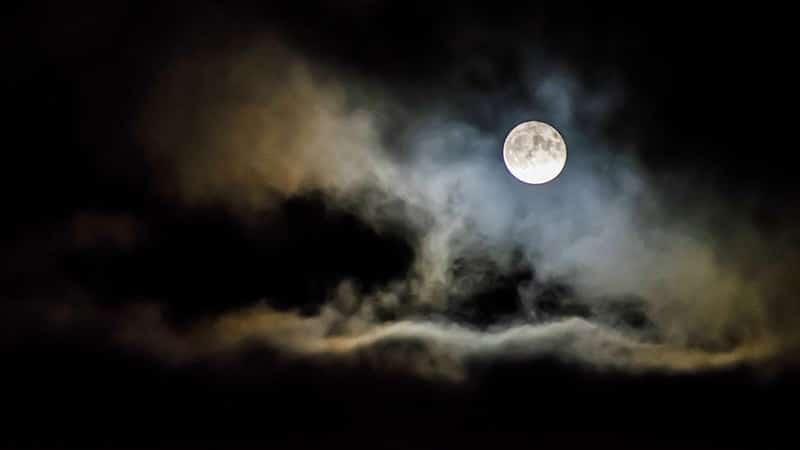 ucapan selamat malam & selamat tidur - bulan di malam hari
