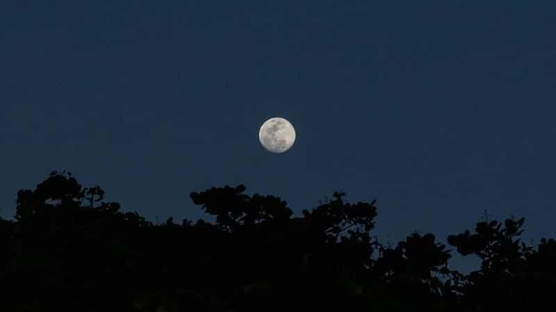 Bulan di Langit Gelap