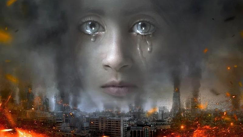 Kata-Kata Sedih Kehidupan Islami - Gadis yang Menangis