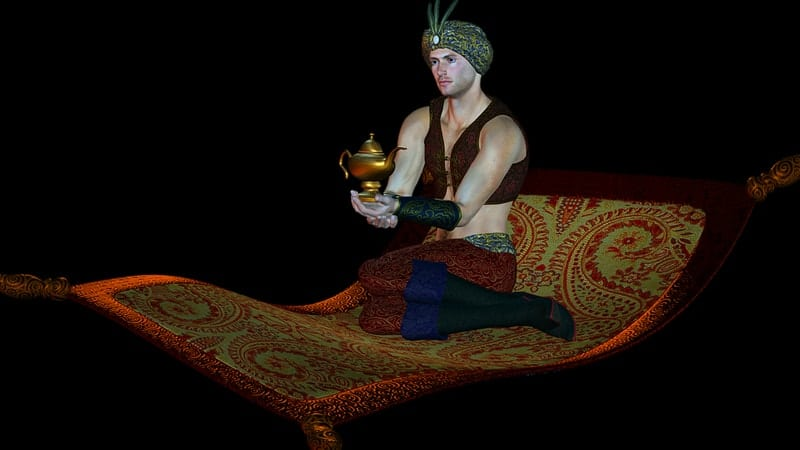 Dongeng Aladin dan Lampu Ajaib - Ilustrasi Aladin