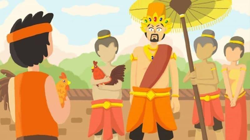 Cerita Rakyat Jawa Timur Cindelaras - Raja dan Cindelaras Bertemu