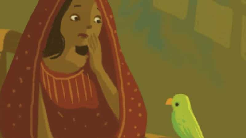 Cerita Hikayat Bayan Budiman - Ilustrasi Zainab dan Bayan