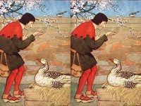Cerita Angsa dan Telur Emas - Lukisan Milo Winter
