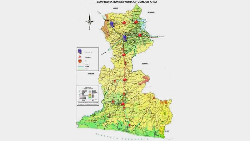 Cerita Rakyat Asal Mula Kota Cianjur - Peta