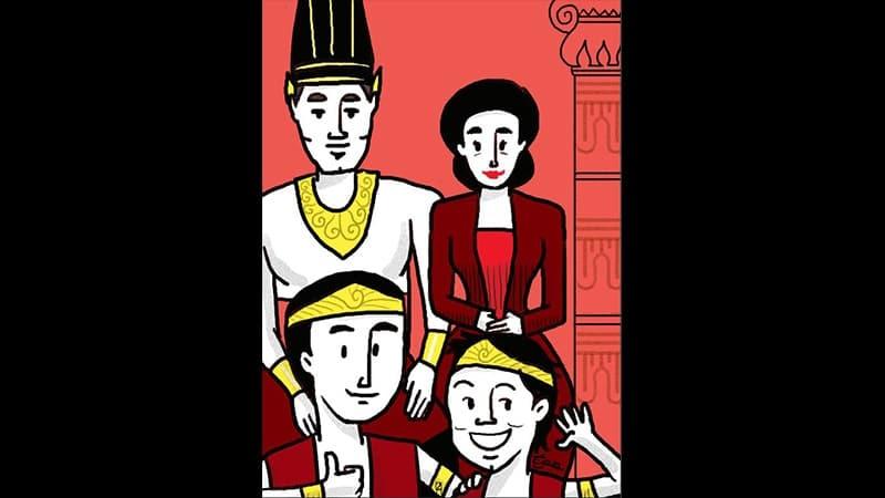 Cerita Hikayat Indera Bangsawan - Ilustrasi Keluarga Raja