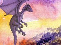 Legenda Tuan Tapa dan Putri Naga - Ilustrasi Naga Terbang