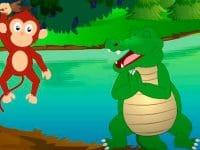 Cerita Fabel Monyet dan Buaya yang Serakah - Riang Gembira