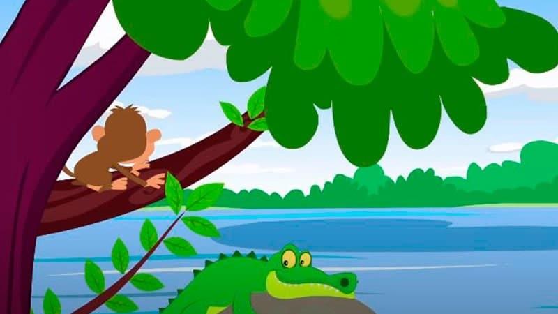 Cerita Fabel Monyet dan Buaya yang Serakah - Monyet di Pohon