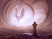 Kisah Nabi Idris dan Malaikat Maut - Ilustrasi Pria dan Malaikat