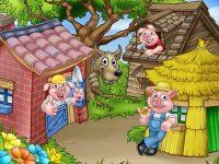 Dongeng Babi dan Serigala - Tiga Anak Babi dan Serigala