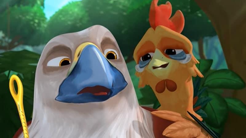 Dongeng Ayam dan Elang - Ilustrasi