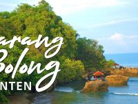 Asal Usul Karang Bolong Banten - Pemandangan dari Jauh