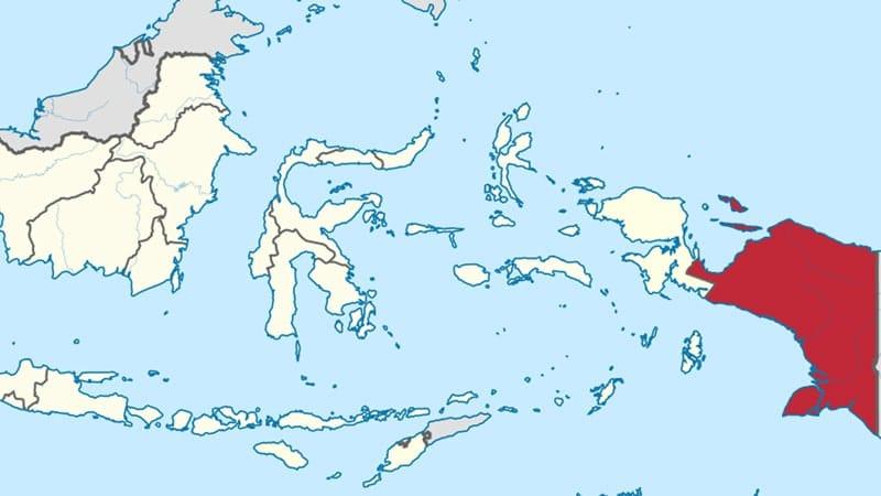 Caadara Cerita Rakyat dari Irian Jaya - Peta Papua
