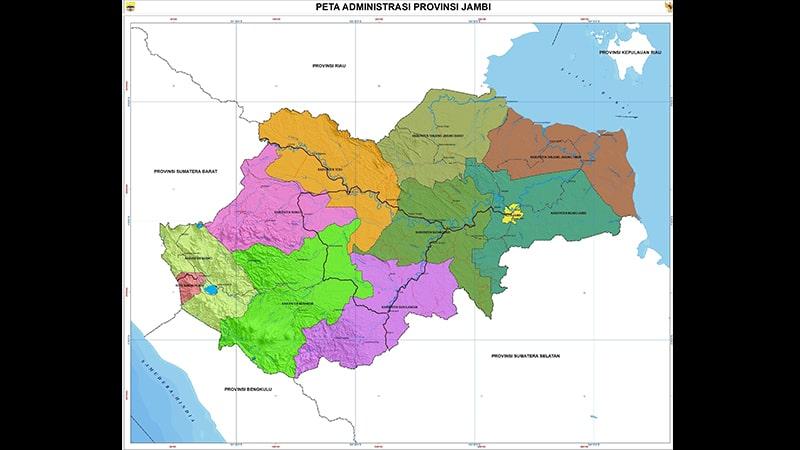 Cerita Rakyat Jambi Si Kelingking - Peta Jambi