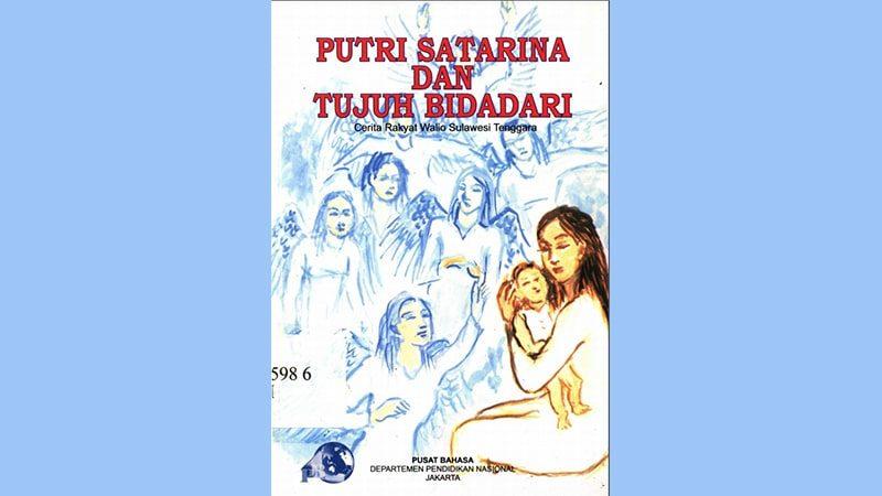 Cerita Rakyat Putri Satarina dan Tujuh Bidadari - Sampul Buku