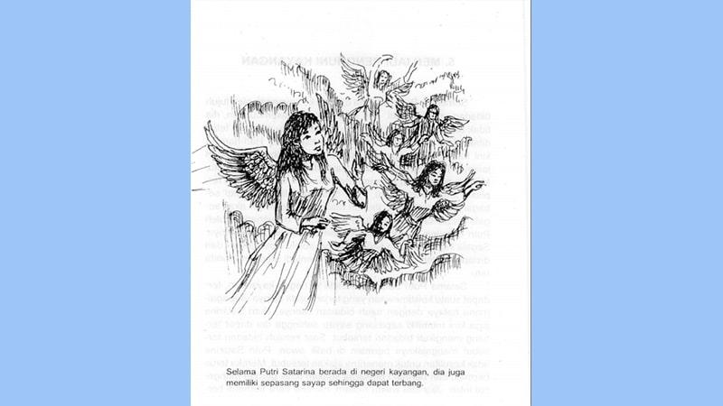 Cerita Rakyat Putri Satarina dan Tujuh Bidadari - Putri Satarina Bersayap
