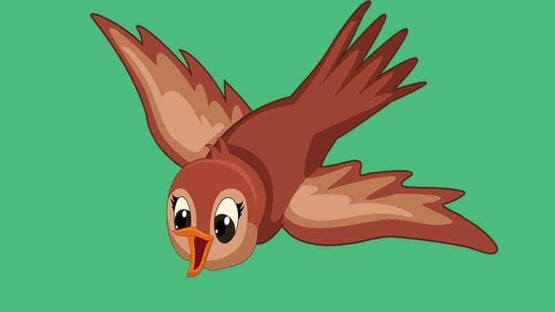 Cerita Kancil dan Kura-Kura Ingin Terbang - Burung Pipit
