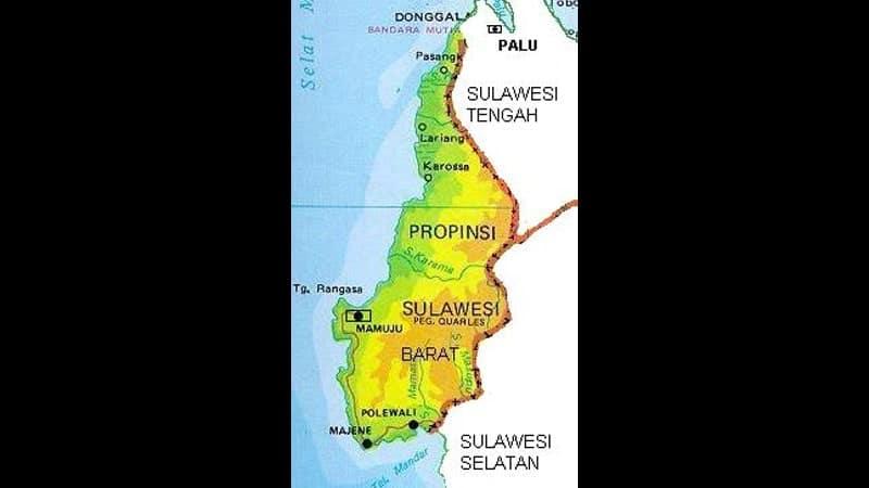Peta Sulawesi Barat