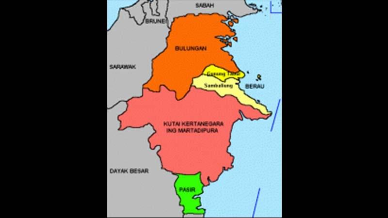 Peta Kerajaan Kutai