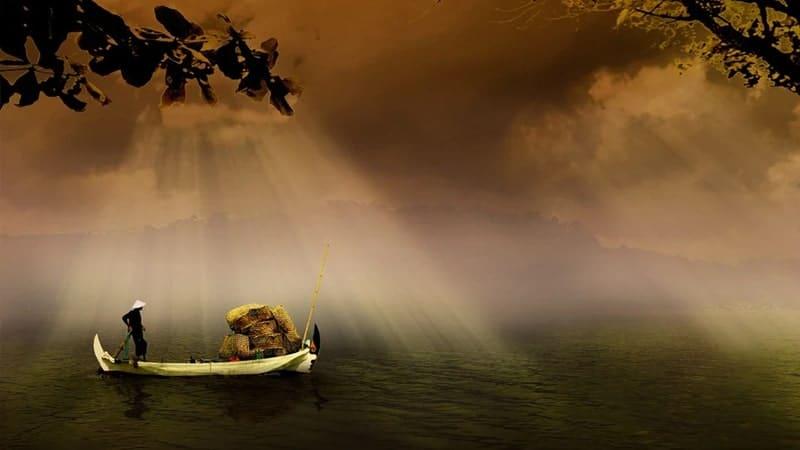 Legenda Karang Nini dan Bale Kambang - Ilustrasi Mencari Ikan