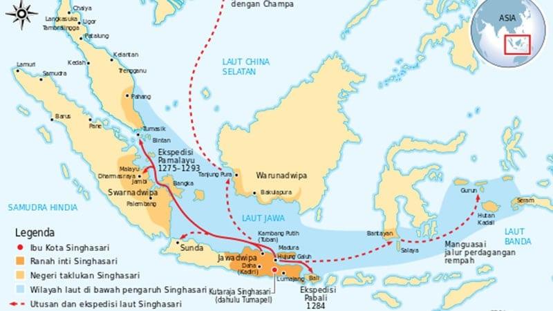 Peta Wilayah Kerajaan Singasari