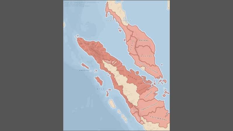 Sejarah Kerajaan Aceh - Peta Lokasi