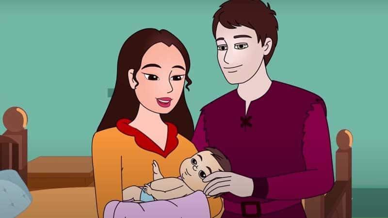 Dongeng Iblis dengan Tiga Rambut Emas - Kelahiran Bayi