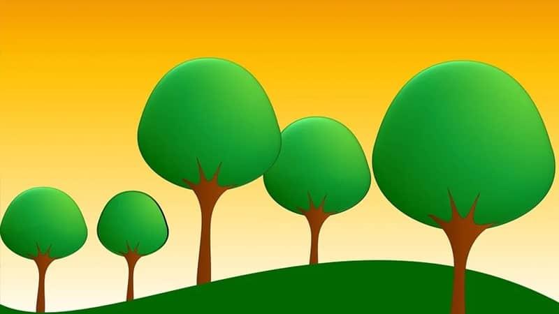 Cerita Dongeng Dua Ekor Kambing - Ilustrasi Padang Rumput