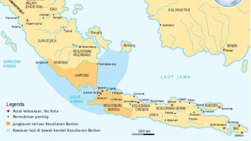 Peta Lokasi Kerajaan Banten