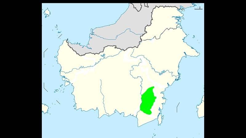 Sejarah Kerajaan Banjar - Peta Lokasi