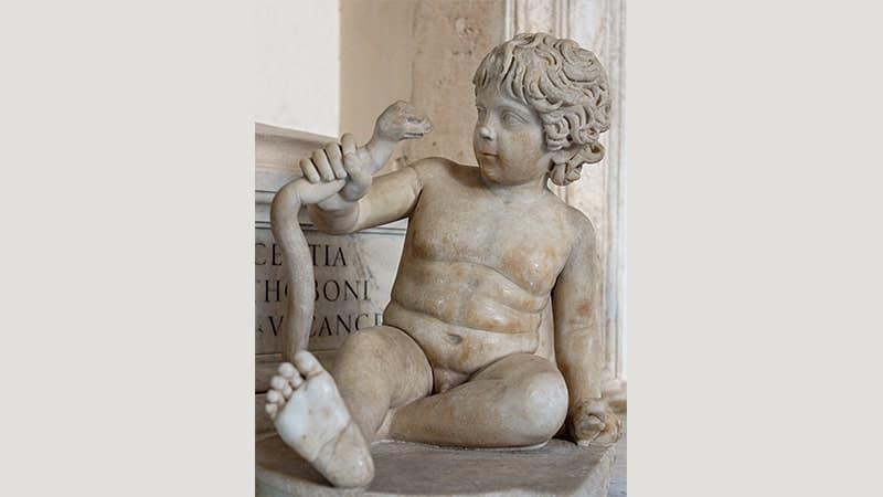 Dongeng Hercules - Patung Bayi Hercules