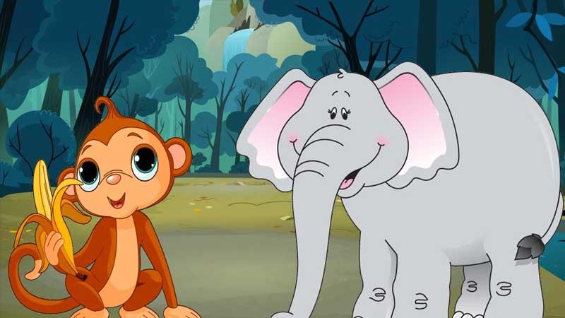 Cerita Dongeng Gajah dan Monyet - Monyet dan Gajah