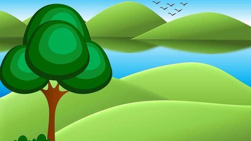 Dongeng Katak dan Lembu - Ilustrasi Hutan