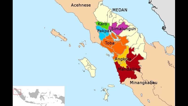 Sejarah Perang Batak - Peta Batak