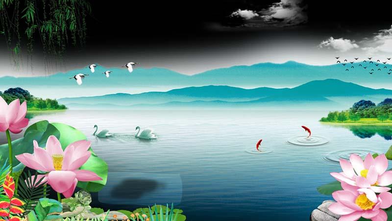 Asal Usul Bunga Teratai - Ilustrasi Danau