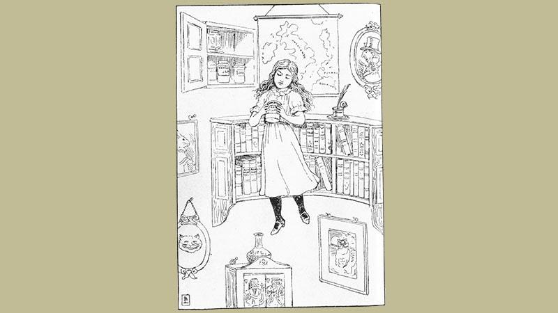 Cerita Alice in Wonderland - Menuruni Lubang Sumur