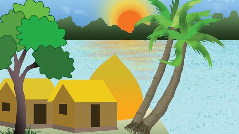 Legenda Pulau Kapal Bangka Belitung - Ilustrasi Desa