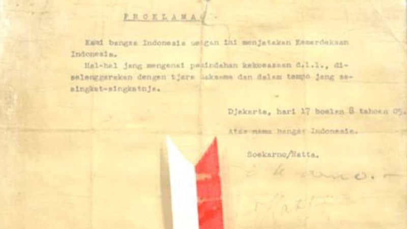 Proklamasi Kemerdekaan Indonesia - Teks Proklamasi Ketikan Sayuti Melik