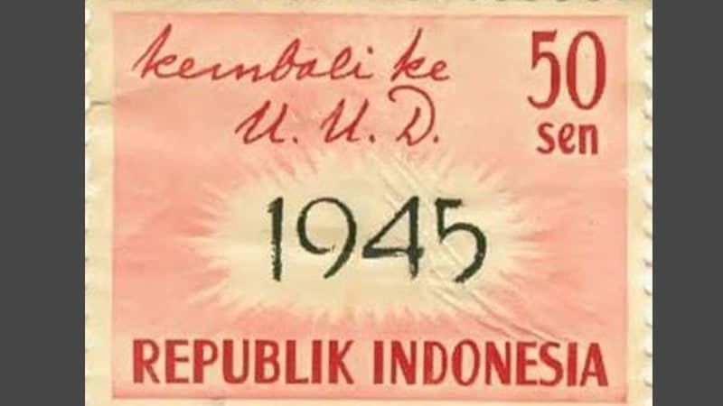 Perumusan dan Pengesahan UUD 1945 - Perangko RIS